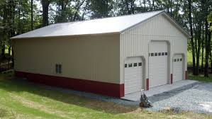 modern awesome design of the pole barn garage kits with loft that