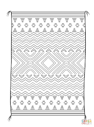 navajo blanket coloring page free printable coloring pages