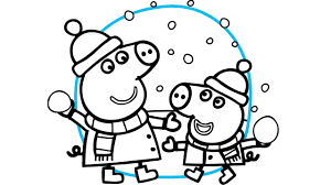 peppa pig and george best christmas coloring book pages video for