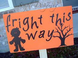 pb knock off halloween wooden signs