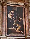 Caravaggio - Madonna of the Pilgrims, Sant'Agostino, Roma