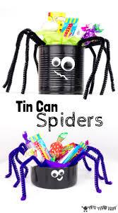 Halloween Tin Can Crafts Tin Can Spider Craft Kids Craft Room