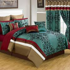 Red King Comforter Sets Lavish Home Eve Green 25 Piece King Comforter Set 66 00013 24pc K