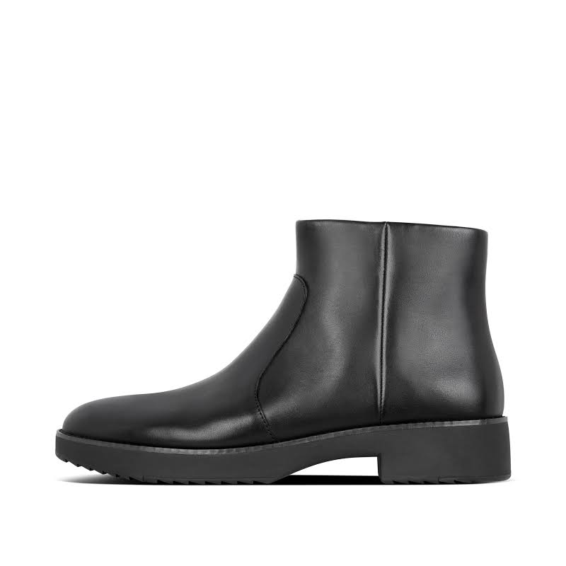 Fitflop Maria Leather Slip Resistant Ankle Boots Black 8.5 Medium (B,M)