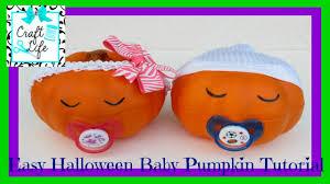 baby shower halloween craft life easy halloween baby pumpkin tutorial youtube