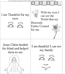 i am thankful for my eyes lds lesson ideas