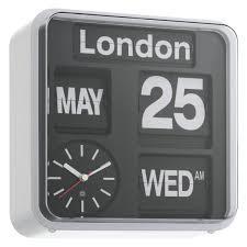 flap black small analogue city wall clock buy now at habitat uk