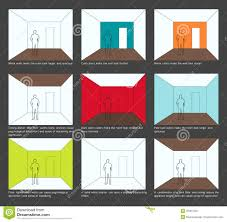 home decoration color scheme and space perception royalty free color decoration design home