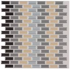 ecoart wall tile stickers peel and stick self adhesive wall tile ecoart wall tile stickers peel and stick self adhesive wall tile in brick style for kitcheh bathroom backsplash grey and bisque 12
