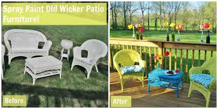 Painting Wicker Patio Furniture - sprucing up for summer loving here
