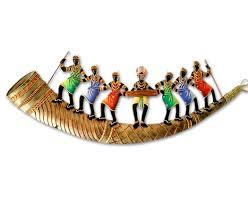 buy trumpet 7 adivasi people online shopping india home decor