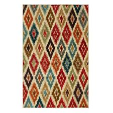 Round Bathroom Rugs by Flooring Cool And Chic Ikat Rug Design For Your Living Space