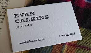 Calling Business Cards Minimal Letterpress Printing U2013 Hoban Cards