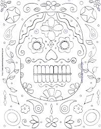 free halloween mask coloring page