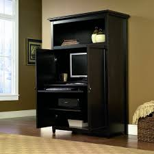 Sauder Black Bookcase by Furniture Sauder Computer Armoire Plus Desk And Bookcase For Home
