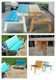 Building Plans For Picnic Table Bench by Best 25 Folding Picnic Table Ideas On Pinterest Outdoor Picnic