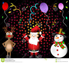christmas party santa claus red nosed reindeer and royalty free