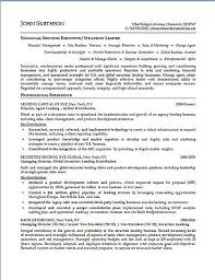 Financial Resume Sample by Executive Resume Example