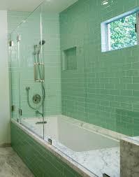 tiles kitchen bathroom inspiration modern green glass subway