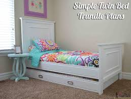 Woodworking Plans For A Platform Bed With Drawers by Simple Twin Bed Trundle Her Tool Belt