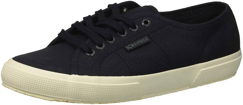 SUPERGA Cotu Classic Canvas Low Top Lace Up Fashion, Black,