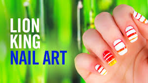 princess aurora colorblock nail art disney video
