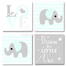 framed canvas print love 4 piece set cute elephant bird