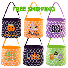 personalized halloween totes free shipping halloween bucket monogrammed halloween bucket