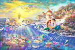 Thomas Kinkade's Disney Paintings - The Little Mermaid - Walt ...