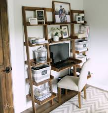 Wall Mounted Shelves Wood Plans by Ana White Leaning Wall Ladder Desk Diy Projects