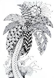 palmier dessin images doodle pinterest palmiers coloriage
