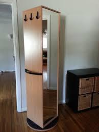 ikea kajak rotating swivel cabinet wardrobe has mirror and