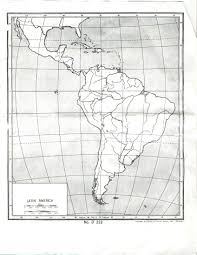 Latitude Map Latin America Map With Lines Of Latitude And Longitude