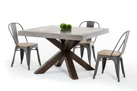 Concrete Dining Room Table Modrest Urban Concrete Square Dining Table Urban Collections