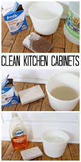 Clean Grease Off Kitchen Cabinets The Best Way To Clean Kitchen Cabinets The Country Chic Cottage