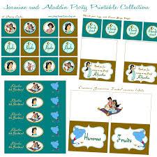 jasmine and aladdin printable birthday party collection cupcake