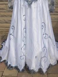 Wedding Dress Halloween Costume Corpse Bride Emily Halloween Costume Wedding Dress Veil Ooak