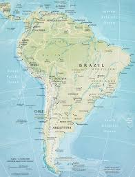 Map Of South Of France by Map Of South America Continent And Countries Brazil Argentina