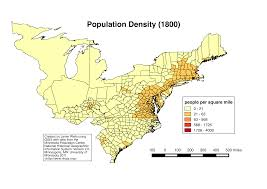Population Density Map United States by Of The United States Population 1850 Mapping The American Coastal