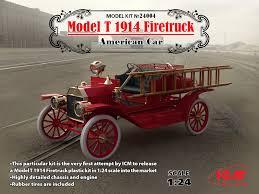 Old Ford Truck Model Kits - icm 1914 ford model t firetruck truck kit news u0026 reviews model