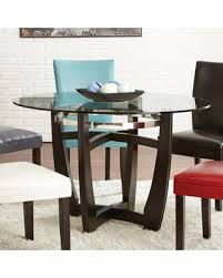 Steve Silver Dining Room Furniture Deals On Steve Silver Matinee Round Glass Top Dining Table