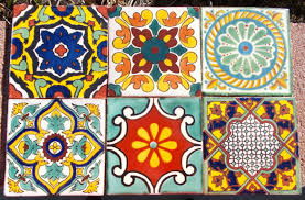 bathroom fetching floral mexican tile for bathroom wall and