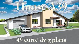 house a39 bungalow house plans for sale 49 euro dwg blueprints