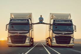 volvo freight trucks jean claude van damme does mega splits in new volvo trucks spot