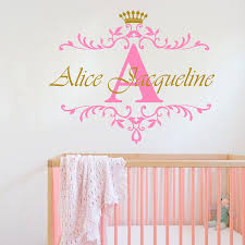 Baby Home Decor Aliexpress Com Buy Personalized Name Initial Letter Wall Sticker