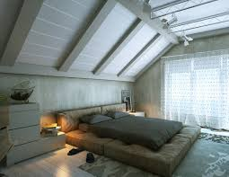 Modern Room Nuance Modern White Nuance Of The Interior Bedroom Of The Loft Bauhaus