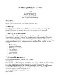 Best Resume For Hotel Management by Front Desk For Hotel