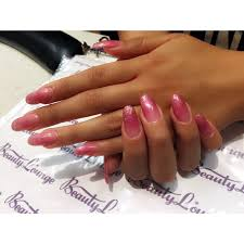 pink ombré nails done by tina gel powder and ibd gel on top