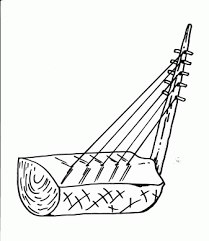harp coloring page music coloring pages for free