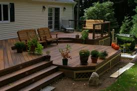 backyard decks and patios ideas fiberon two level deck fairfield county decking and deck skirting